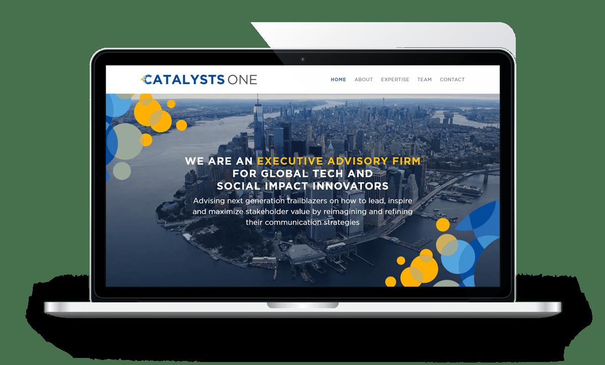 velvetmade CatalystsOne website design mockup
