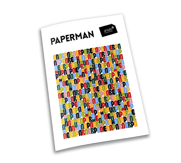 velvetmade Paperman minimal typographic magazine cover design