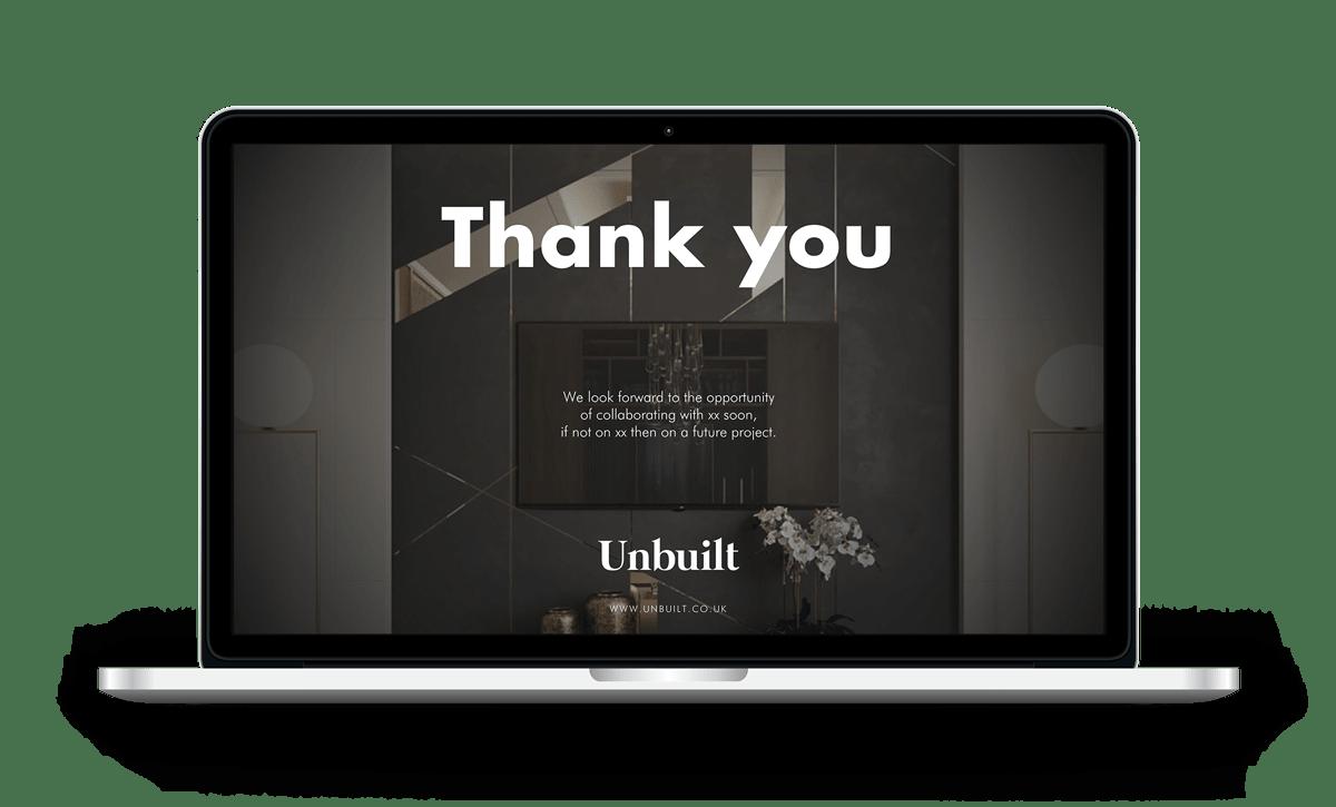 velvetmade Unbuilt powerpoint presentation mockup